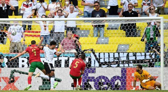 Jerman vs Portugal di Euro 2020 (Foto Skysports)